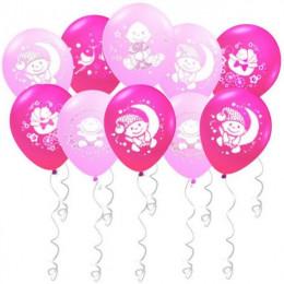 Воздушные шары Поздравления для малышки с гелием