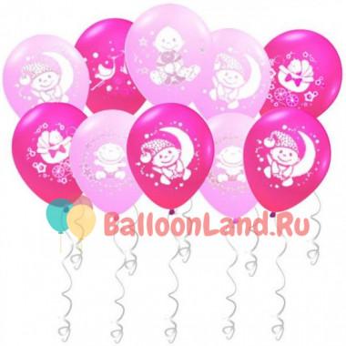 Воздушные шары 'Поздравления для малышки' с гелием