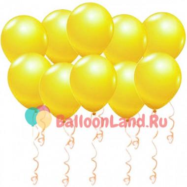 Воздушные шары Желтые (металлик)