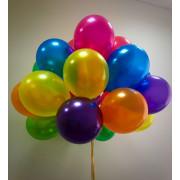 Шарики с гелием Металлик Разноцветное ассорти - дополнительное фото #1