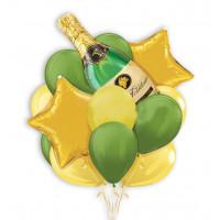 Букет гелиевых шариков на день рождения Шампанское