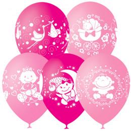 Воздушные шары Поздравления для малышки с гелием - дополнительное фото #1