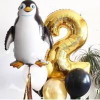 Сет шаров с гелием на День Рождения Пингвинёнок