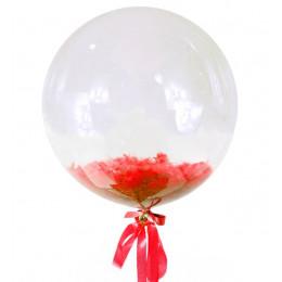 Шар-пузырь Красные перья
