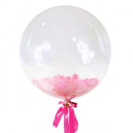 Шар-пузырь Розовые перья
