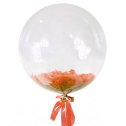 Шар-пузырь Оранжевые перья