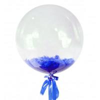 Шар-пузырь Синие перья