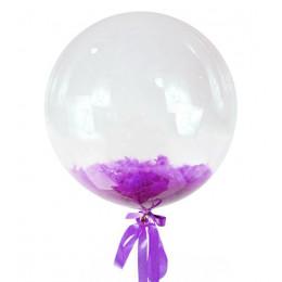 Шар-пузырь Сиреневые перья