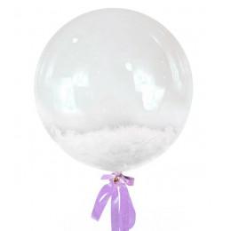 Шар-пузырь Белые перья
