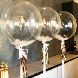 Шар-пузырь Белые перья - дополнительное фото #1