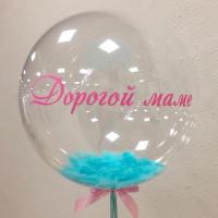 Шар-пузырь Бирюзовые перья - дополнительное фото #1