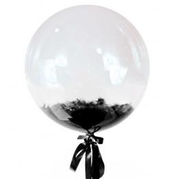 Шар-пузырь Черные перья