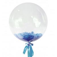 Шар-пузырь Голубые перья