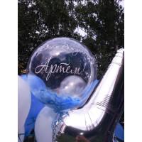Шар-пузырь Голубые перья - дополнительное фото #1