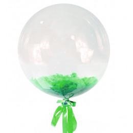 Шар-пузырь Зеленые перья