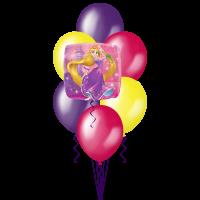 Букет из шаров с гелием с Танцующей Рапунцель
