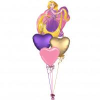 Букет из шаров Рапунцель с сердцами