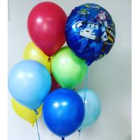 Букет гелевых шаров с героями м/ф Робокар Поли