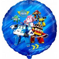 Шар-круг Робокар Поли с друзьями