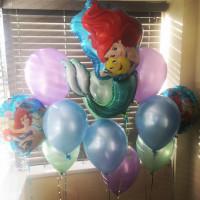 Сет из шаров с гелием с персонажем м/ф Дисней Русалочка Ариэль