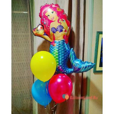 Букет из гелиевых шаров с русалочкой Ариэль