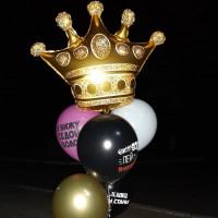Букет из шаров с короной и шарами с приколами девушке
