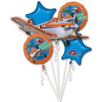 Букет шариков на День Рождения Самолет Дасти со звездами