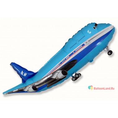 Фигурный шар Голубой Самолет