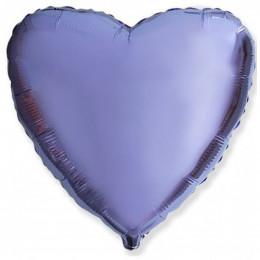 Шар-сердце Лавандовый (46 см)