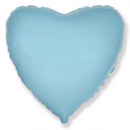Шар-сердце Голубой (46 см)
