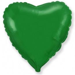 Шар-сердце Зеленый (46 см)