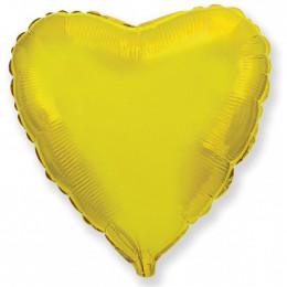 Шар-сердце Золотой (46 см)