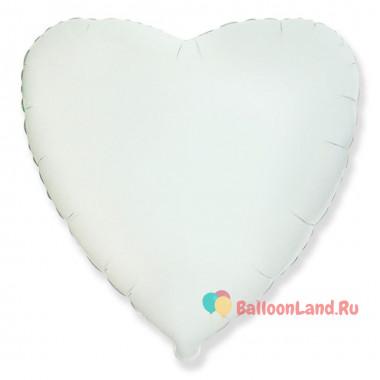 Шар-сердце Белый (46 см)