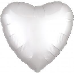 Шар-сердце Белая, сатин