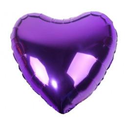 Шар-сердце Фиолетовый