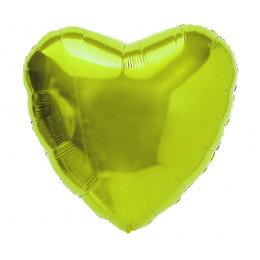 Шар-сердце Лаймовый