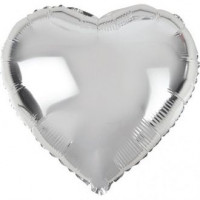 Шар-сердце Серебряный