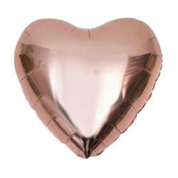 Шар-сердце Розовое золото