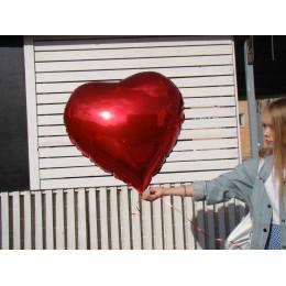 Шар-сердце Красное большое - дополнительное фото #1