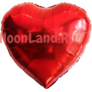 Шар-сердце Красное большое