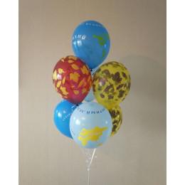 Букет шариков с гелием глобусы с осенними листьями