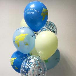 Букет шаров с гелием с глобусами