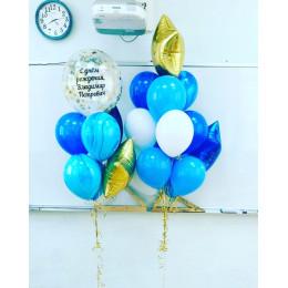 Композиция из гелевых шаров на День Рождения учителю