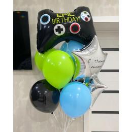 Букет из шариков сыну на День Рождения с Геймпадом