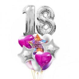 Букет шариков на день рождения Нежное совершенолетие