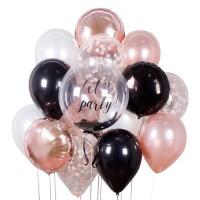 Сет из шариков с шаром с перьями для вашего праздника