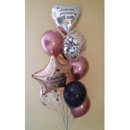 Букет из воздушных шариков на 18 лет сестре и дочке