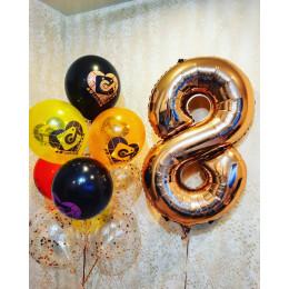 Композиция из шаров ТикТок на восемь лет