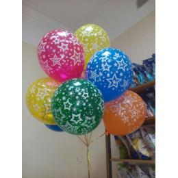 Воздушные шары со звездами - дополнительное фото #1