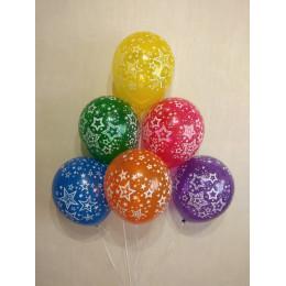 Воздушные шары со звездами - дополнительное фото #2